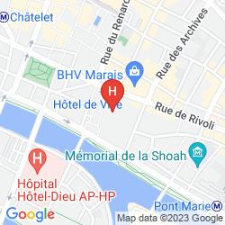 Map NOVOTEL MARNE LA VALLÉE COLLÉGIEN