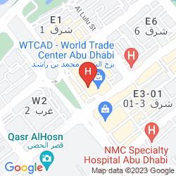 Map COURTYARD WORLD TRADE CENTER, ABU DHABI