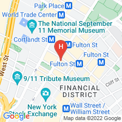 Map RESIDENCE INN NEW YORK MANHATTAN/WORLD TRADE CENTER AREA