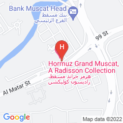 Map HORMUZ GRAND, MUSCAT A RADISSON COLLECTION