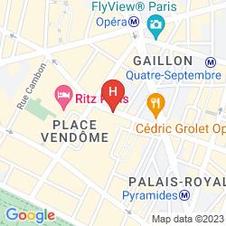Map STENDHAL PLACE VENDÔME PARIGI - MGALLERY COLLECTION