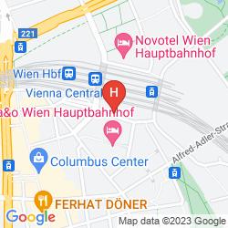 Map STAR INN HOTEL PREMIUM WIEN HAUPTBAHNHOF