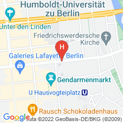 Map TITANIC GENDARMENMARKT BERLIN