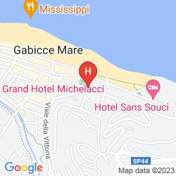 Map HOTEL LOSANNA GABICCE MARE