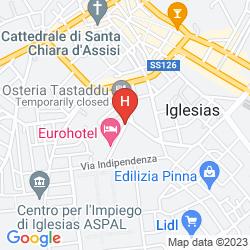 Map EURO HOTEL IGLESIAS