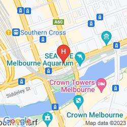 Map AURA ON FLINDERS SERVICED APARTMENTS
