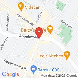 Map AVENUE HOTEL COPENHAGEN