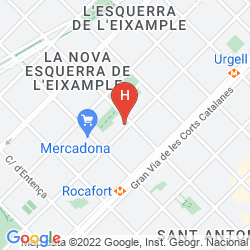 Map LEONARDO HOTEL BARCELONA GRAN VIA
