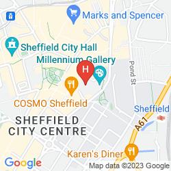 Map NOVOTEL SHEFFIELD CENTRE