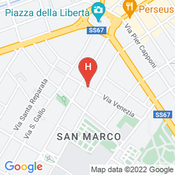 Map WOW FLORENCE - HOSTEL