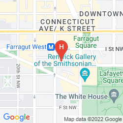 Map HAMPTON INN WASHINGTON, DC/WHITE HOUSE