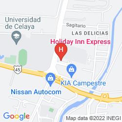Map HOLIDAY INN EXPRESS & SUITES CELAYA