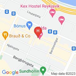 Map ALDA HOTEL REYKJAVIK