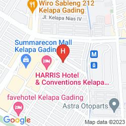 Map POP! HOTEL KELAPA GADING