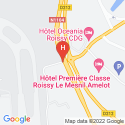 Map COMFORT HOTEL CDG AIRPORT