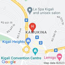 Map DISCOVER RWANDA YOUTH HOSTEL