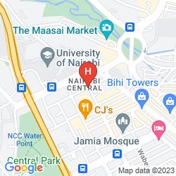 Map THE KENYA COMFORT HOTEL SUITES