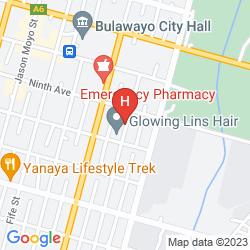 Map BULAWAYO RAINBOW HOTEL