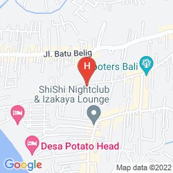 Map VASANTI SEMINYAK RESORT