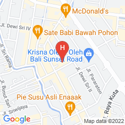 Map FONTANA HOTEL BALI, A PHM COLLECTION