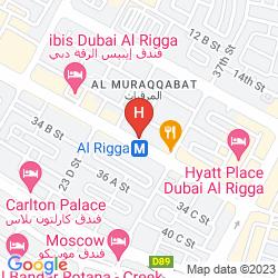 Map RAMEE GUESTLINE HOTEL DUBAI