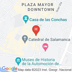 Map NH COLLECTION SALAMANCA PALACIO DE CASTELLANOS