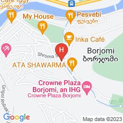 Map CROWNE PLAZA BORJOMI