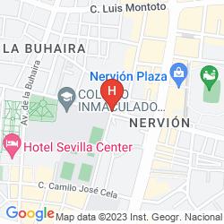 Map NOVOTEL SEVILLA MARQUES DEL NERVION