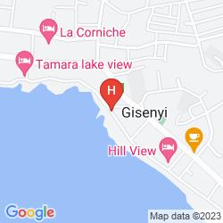 Map GORILLAS LAKE KIVU HOTEL