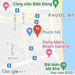 Map ATLANTIC DA NANG HOTEL