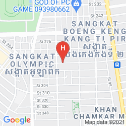 Map ST. 288 HOTEL APARTMENT & HOTEL SERVICE