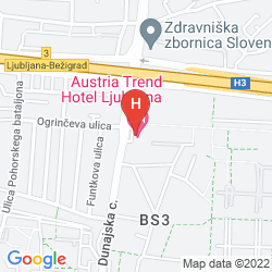 Map AUSTRIA TREND HOTEL LJUBLJANA