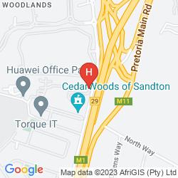 Map CEDARWOODS OF SANDTON