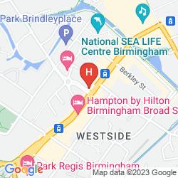 Map NOVOTEL BIRMINGHAM CENTRE