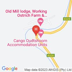 Map DE OUDE MEUL COUNTRY LODGE