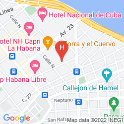 Map VEDADO - SAINT JOHN'S