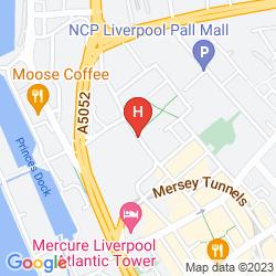 Map RADISSON BLU LIVERPOOL