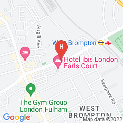 Map IBIS LONDON EARLS COURT