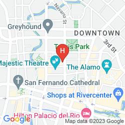 Map HOME2 SUITES BY HILTON SAN ANTONIO DOWNTOWN - RIVERWALK, TX