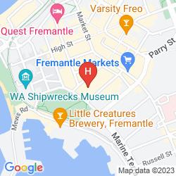 Map ESPLANADE HOTEL FREMANTLE - BY RYDGES