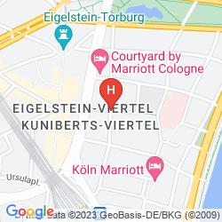 Map EXCELSIOR HOTEL ERNST