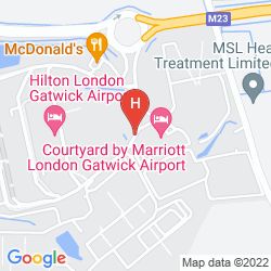 Map BEST WESTERN GATWICK SKYLANE