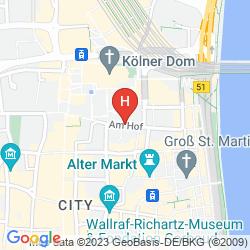 Map CITYCLASS HOTEL EUROPA AM DOM