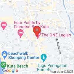 Map FASHION HOTEL LEGIAN