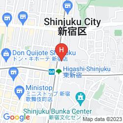 Map HOTEL SUNROUTE HIGASHI SHINJUKU