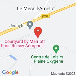 Map COURTYARD PARIS ROISSY CHARLES DE GAULLE AIRPORT HOTEL