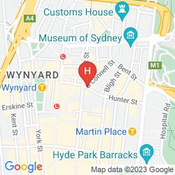 Map RADISSON BLU PLAZA HOTEL SYDNEY