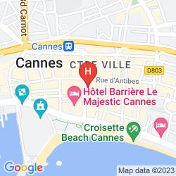 Map LE GRAY D'ALBION CANNES