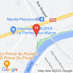 Map MILTON HOTEL PARIS