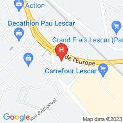 Map NOVOTEL PAU PYRENEES